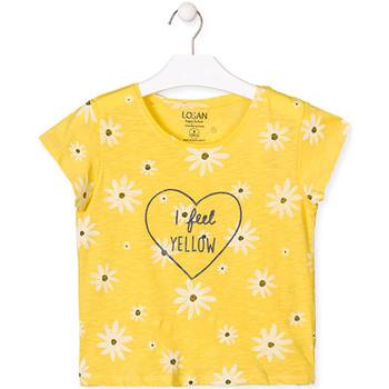 Vêtements Fille T-shirts manches courtes Losan 014-1013AL Jaune