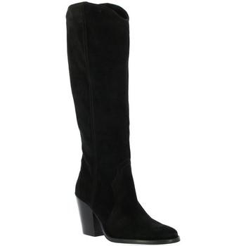 Chaussures Femme Bottes ville Pao Bottes cuir velours Noir