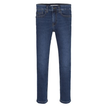 Vêtements Garçon Jeans skinny Calvin Klein Jeans ESSENTIAL ROYAL BLUE STRETCH Bleu