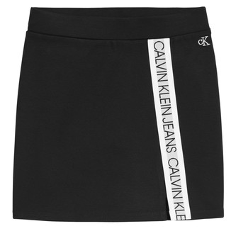 Vêtements Fille Jupes Calvin Klein Jeans LOGO TAPE PUNTO SKIRT Noir