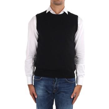 Vêtements Homme Gilets / Cardigans La Fileria 14290 55168 Noir