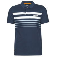 Vêtements Homme Polos manches courtes Timberland SS MILLERS RIVER PLACEMENT STRIPE POLO REGULAR Marine / Blanc
