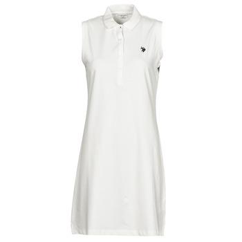 Vêtements Femme Robes courtes U.S Polo Assn. AMY DRESS POLO SLEEVELESS Blanc