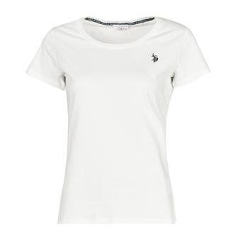Vêtements Femme T-shirts manches courtes U.S Polo Assn. BELLA R NECK TEE SS Blanc