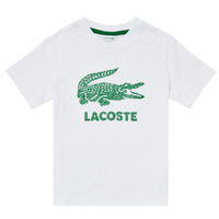 Vêtements Garçon T-shirts manches courtes Lacoste TILLO Blanc
