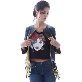 Vêtements Femme Vestes / Blazers Grace Shoes DF131 Noir