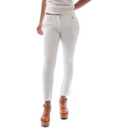 Vêtements Femme Chinos / Carrots Animagemella 16PE003 Blanc