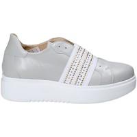 Chaussures Femme Slip ons Exton E05 Gris