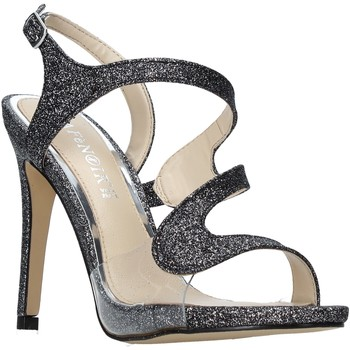 Chaussures Femme Sandales et Nu-pieds Café Noir ND931 Gris