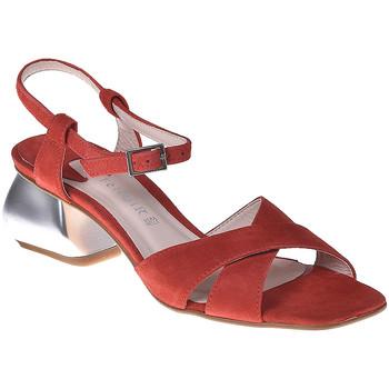 Chaussures Femme Sandales et Nu-pieds Café Noir ME571 Rouge