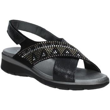 Chaussures Femme Sandales et Nu-pieds Soffice Sogno E9490 Noir