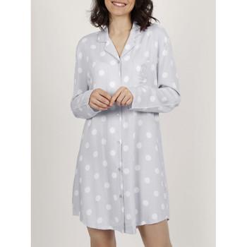 Vêtements Femme Pyjamas / Chemises de nuit Admas Chemise de nuit manches longues Classic Dots Gris