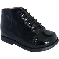 Chaussures Fille Bottines Pom d'Api Nioupi Primo vernis noir vernis