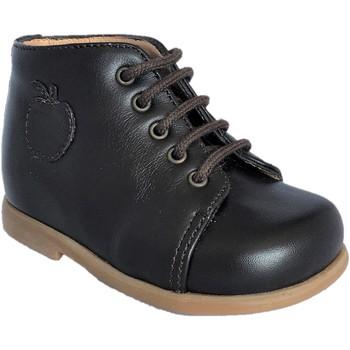 Chaussures Garçon Boots Pom d'Api Nioupi Primo Softy marron