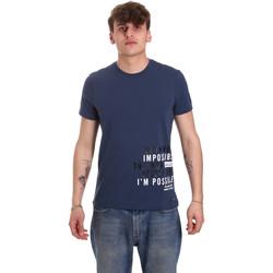 Vêtements Homme T-shirts manches courtes Gaudi 011BU64071 Bleu