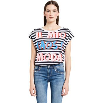 Vêtements Femme T-shirts manches courtes Denny Rose 011ND64017 Blanc