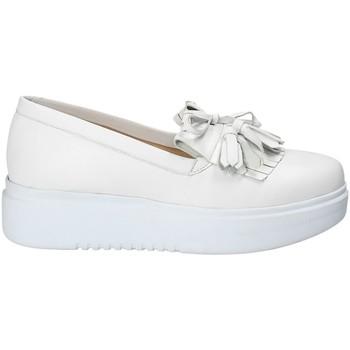 Chaussures Femme Slip ons Exton E01 Blanc