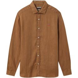 Vêtements Homme Chemises manches longues Napapijri NP000IL7 Marron
