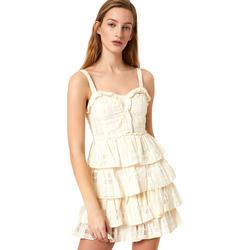 Vêtements Femme Robes courtes Liu Jo FA0312 T4190 Blanc