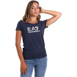 Vêtements Femme T-shirts manches courtes Ea7 Emporio Armani 8NTT63 TJ12Z Bleu