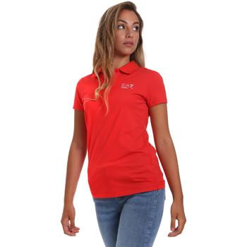 Vêtements Femme Polos manches courtes Ea7 Emporio Armani 3HTF57 TJ29Z Rouge