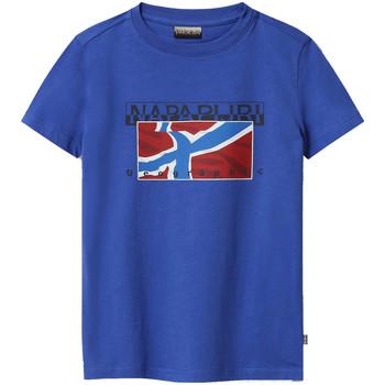 Vêtements Enfant T-shirts manches courtes Napapijri NP0A4E52 Bleu