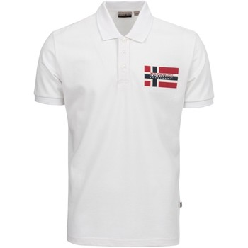 Vêtements Homme Polos manches courtes Napapijri NP0A4E2K Blanc