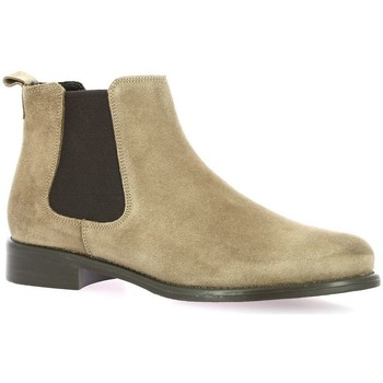 Chaussures Femme Bottines We Do Boots cuir velours Taupe