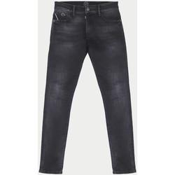 Vêtements Garçon Jeans slim Little Cerise Power slim jeans noir n°1 BLACK / BLACK