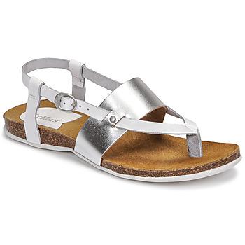 Chaussures Femme Sandales et Nu-pieds Kickers ANAGRAMI Blanc / Argent