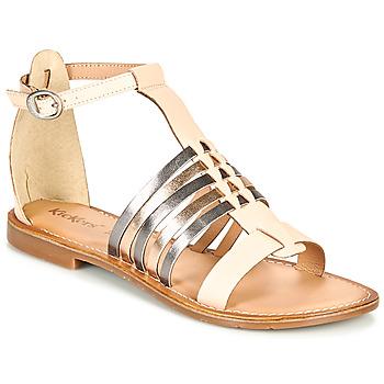 Chaussures Femme Sandales et Nu-pieds Kickers ETIKET Rose / Metal / Argent