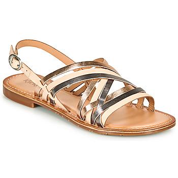 Chaussures Femme Sandales et Nu-pieds Kickers ETRUSK Rose / Metal / Argent