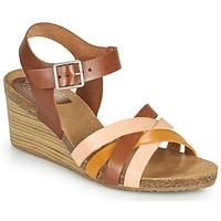 Chaussures Femme Sandales et Nu-pieds Kickers SOLYNIA Rose / Marron / Jaune