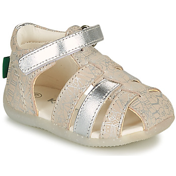 Chaussures Fille Comme Des Garcon Kickers BIGFLO-2 Argenté
