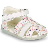 Chaussures Fille Sandales et Nu-pieds Kickers BIGFLO-2 Blanc