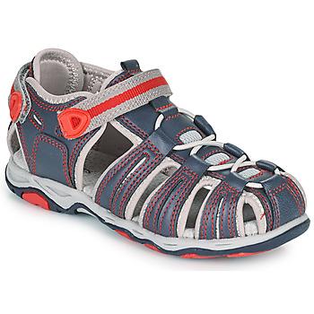 Chaussures Garçon Sandales et Nu-pieds Kickers KAWA Marine / Rouge