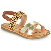 Chaussures Fille Sandales et Nu-pieds Kickers DYACROSS Doré / Leopard