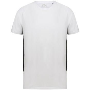 Vêtements T-shirts manches courtes Sf SF253 Blanc / noir