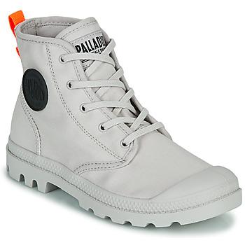 Chaussures Femme Boots Palladium PAMPA HI TWILL Gris