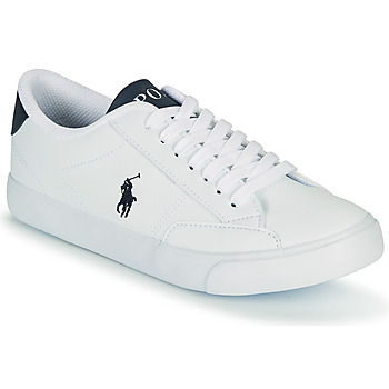 Chaussures Enfant Baskets basses Polo Ralph Lauren THERON IV Blanc / Marine