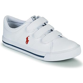 Chaussures Enfant Baskets basses Polo Ralph Lauren ELMWOOD EZ Blanc