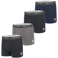 Sous-vêtements Homme Boxers Serge Blanco Lot de 4 Boxers coton homme Colored Class' Noir