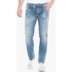 Vêtements Homme Jeans droit Japan Rags Itzan 700/11 slim jeans destroy bleu n°4 BLUE