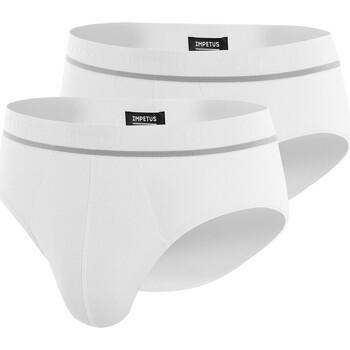 Sous-vêtements Homme Slips Impetus Pack de 2 slips en coton stretch Essentials blanc Blanc