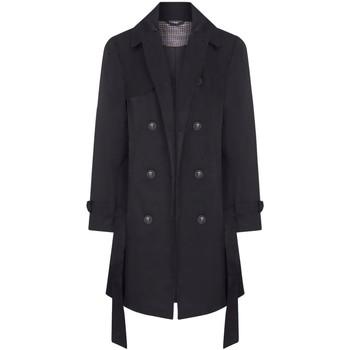 Vêtements Femme Manteaux Anastasia - Trench-coat ceinturé pour femmes Black
