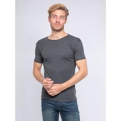 Vêtements Homme T-shirts manches courtes Ritchie T-shirt col rond pur coton organique WARRY Gris foncé