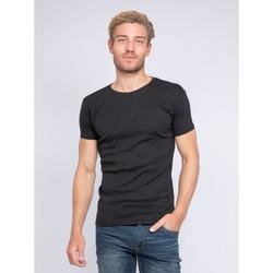 Vêtements Homme T-shirts manches courtes Ritchie T-shirt col rond pur coton organique WARRY Noir