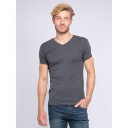 Vêtements Homme T-shirts manches courtes Ritchie T-shirt col V pur coton organique WORD Gris foncé
