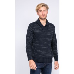 Vêtements Homme Pulls Ritchie Pull col châle en maille LOOPING Bleu marine