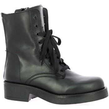 Chaussures Femme Boots Stm Rangers cuir Noir